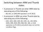 switching between arm and thumb states