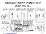 writing assembly in whatever your editor may be