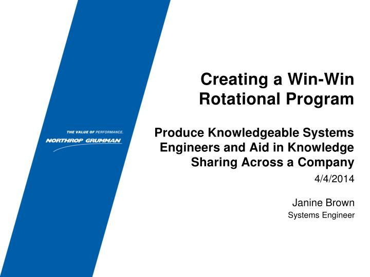 creating a win win rotational program n.