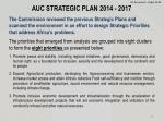 auc strategic plan 2014 2017