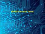 biosis previews demo