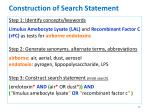 construction of search statement