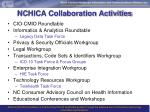 nchica collaboration activities