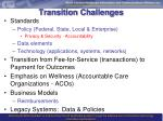 transition challenges