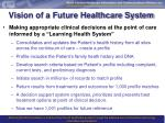 vision of a future healthcare system
