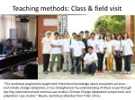 teaching methods class field visit