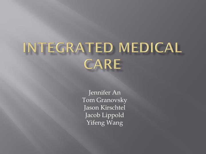 integrated medical care n.