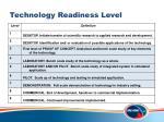 technology readiness level