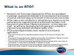 what is an rto