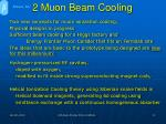 2 muon beam cooling