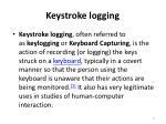 keystroke logging