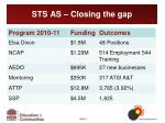 sts as closing the gap