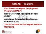 sts as programs