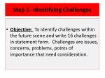 step 1 identifying challenges