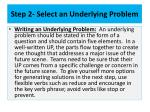 step 2 select an underlying problem6