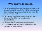 why study a language