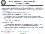 navy and marine corps disability attorney services