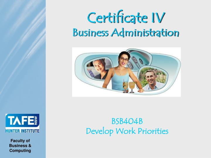 certificate iv business administration n.