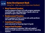 asian development bank getting paid under loans loan disbursement handbook