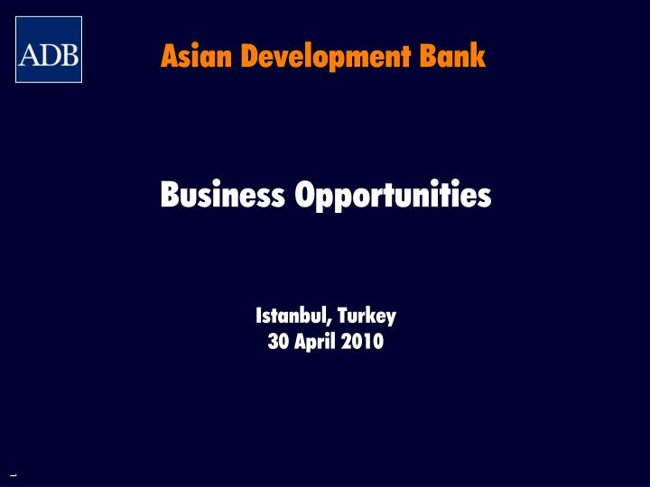 asian development bank n.