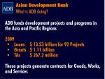 asian development bank what is adb doing