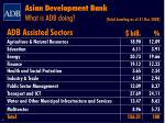 asian development bank what is adb doing1