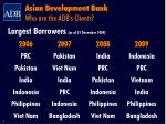 asian development bank who are the adb s clients