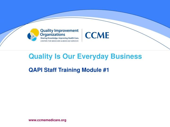 quality is our everyday business n.