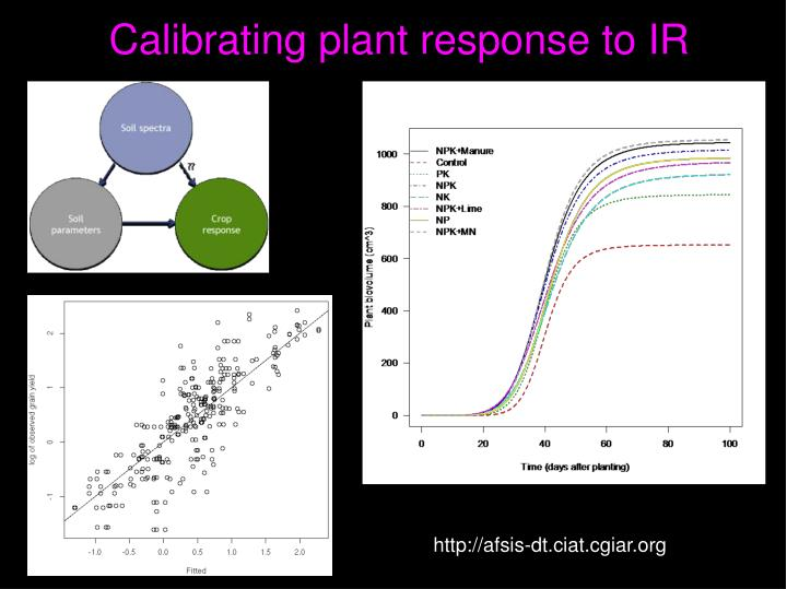 Calibrating plant response to IR