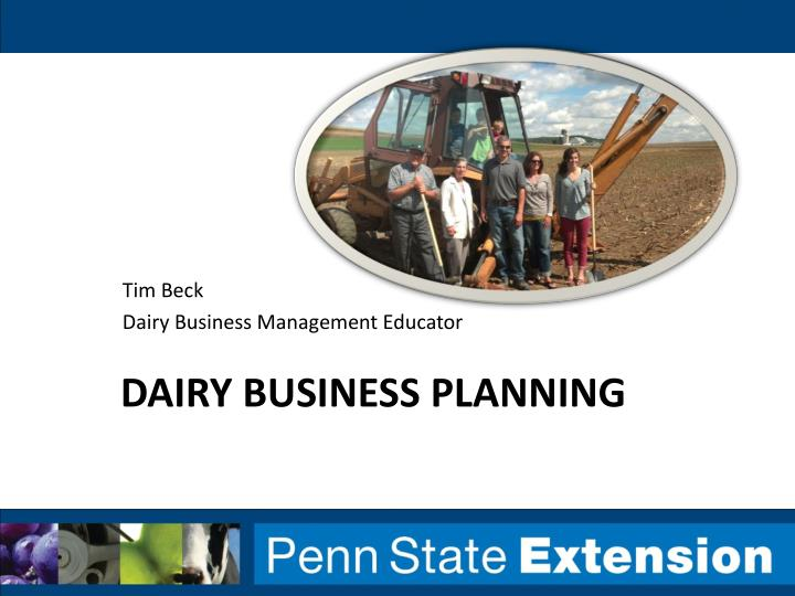 dairy business planning n.