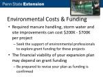 environmental costs funding