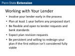 working with your lender