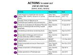 actions to carry out step by step plan what who when