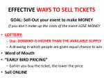 effective ways to sell tickets