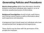 generating policies and procedures2