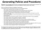 generating policies and procedures4