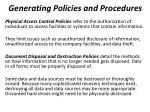 generating policies and procedures5