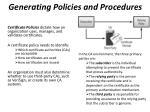 generating policies and procedures6