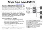 single sign on initiatives