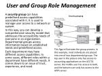 user and group role management