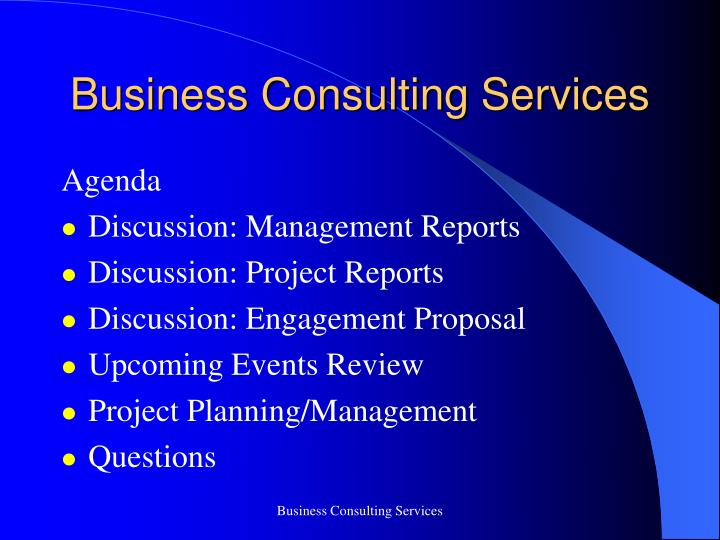 business consulting services n.