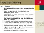 capital works planning