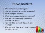 engaging in ffa