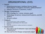 organizational level