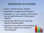 properties of systems