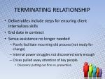 terminating relationship