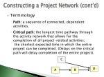 constructing a project network cont d