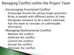 managing conflict within the project team