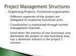 project management structures1