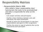 responsibility matrices